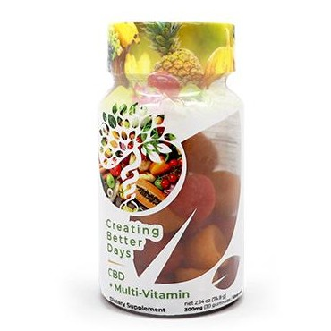 Creating Better Days CBD Gummies CBD+Multi-Vitamin 300mg 30 pack