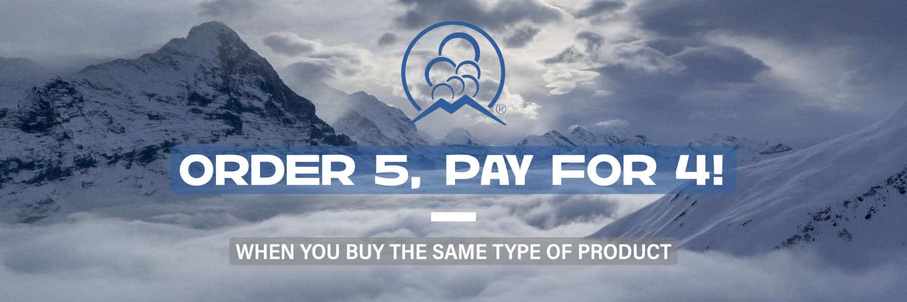 Order 5 Pay For 4 Banner